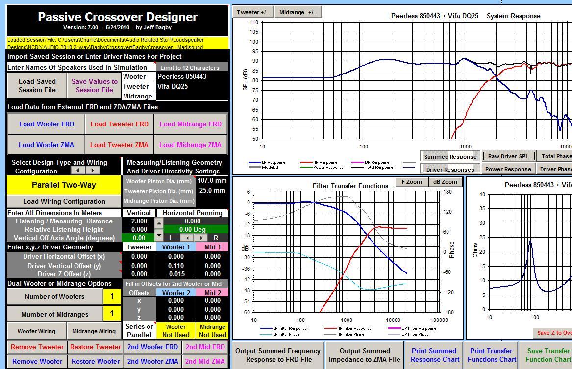 Audio Crossover Design Software